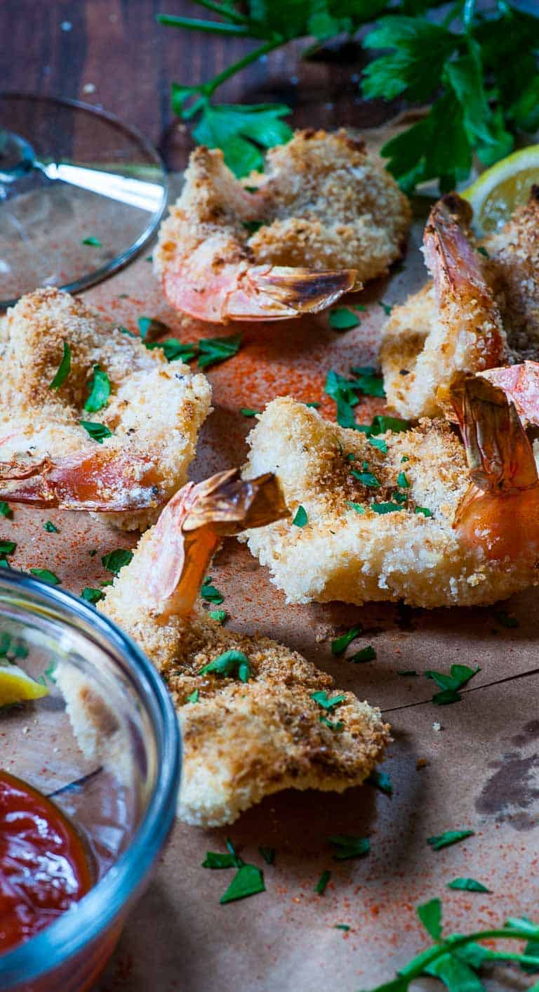 Oven baked breaded butterfly shrimp 3 | Joe's Healthy Meals