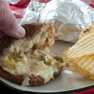 Cheesy hot tuna sandwiches. Perfect sandwich to serve a group of people anytime. | joeshealthymeals.com