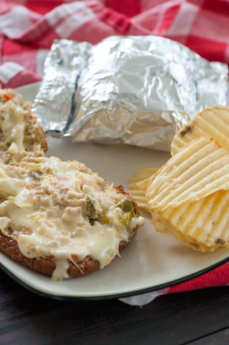 Cheesy hot tuna sandwiches are the perfect thing for a family get-together or to serve for the big game. | joeshealthymeals.com