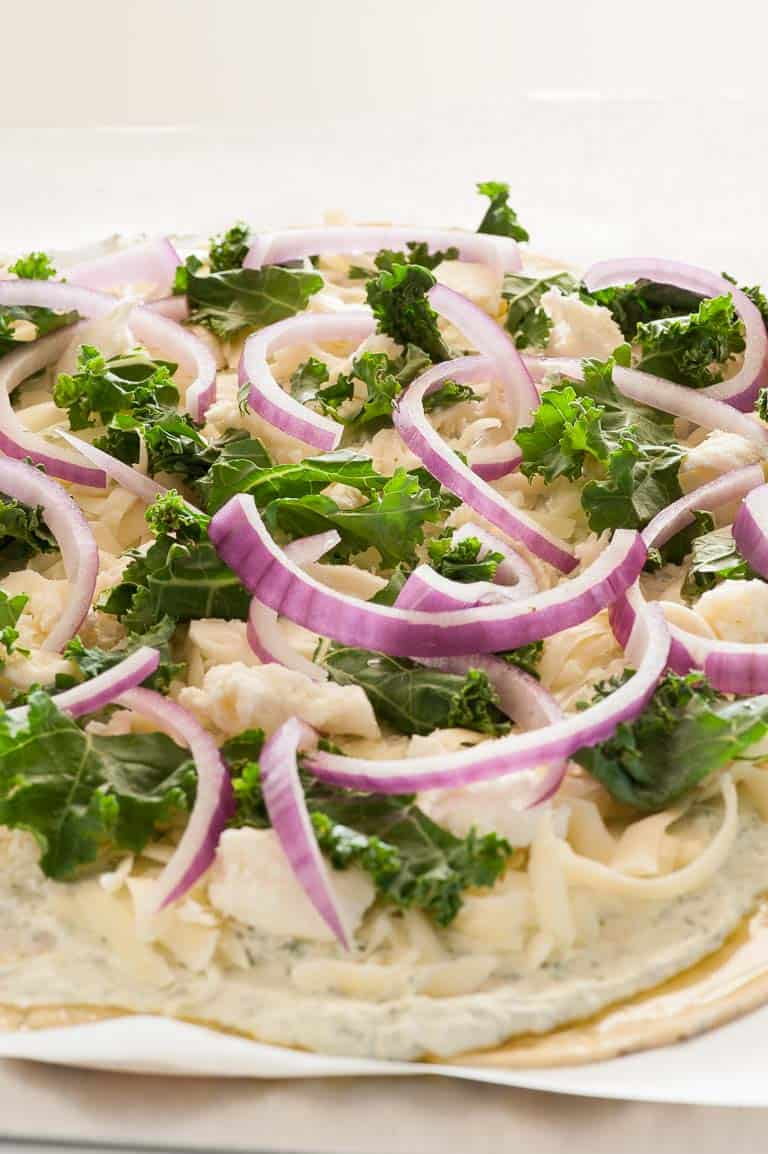 Homemade white pizza sauce is a tasty alternative to tomato sauce. You may become hooked into using this white sauce all the time.   joeshealthymeals.com