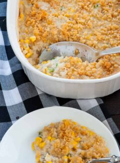 Corn pudding recipe inspired by the one my Mom used to make years ago and it's delicious. | joeshealthymeals.com