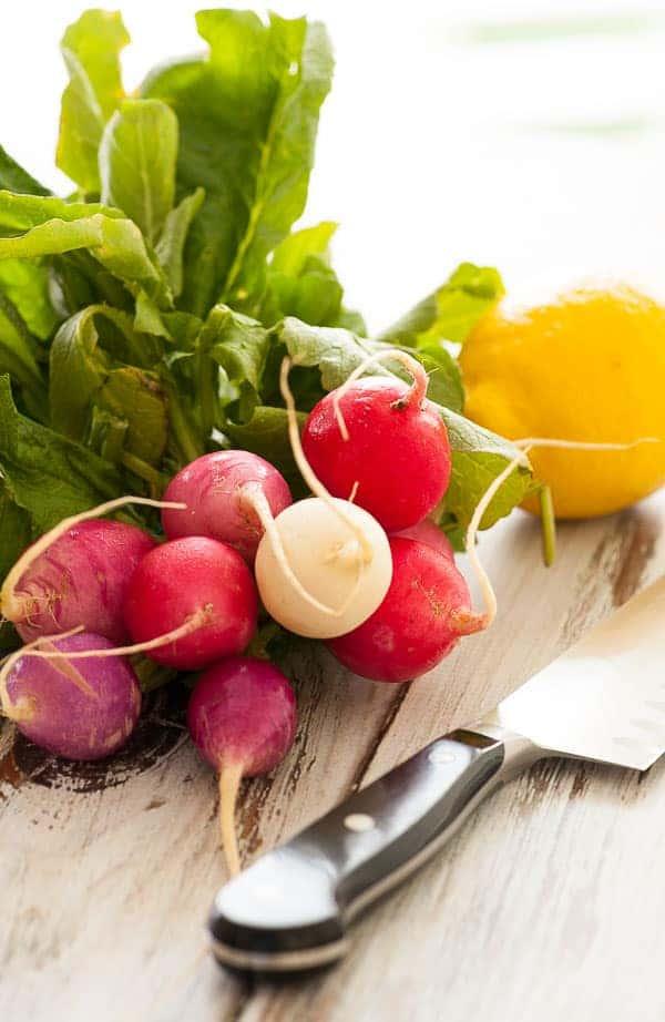 Easter egg radishes for the radish salad