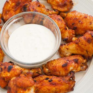 Delicious plate of glazed chicken wings. | joeshealthymeals.com