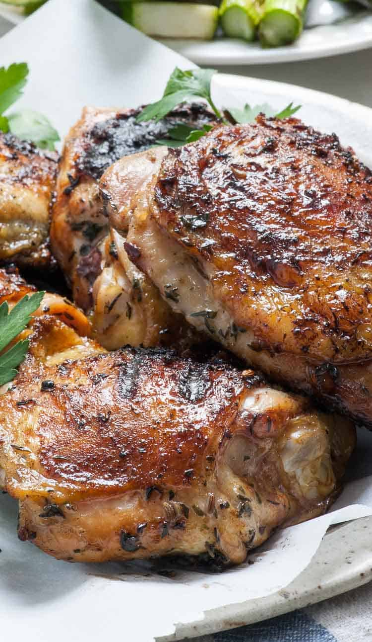 Close-up of Grilled chicken