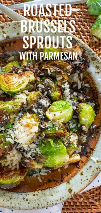 Roasted Brussels sprouts Pinterest collage.
