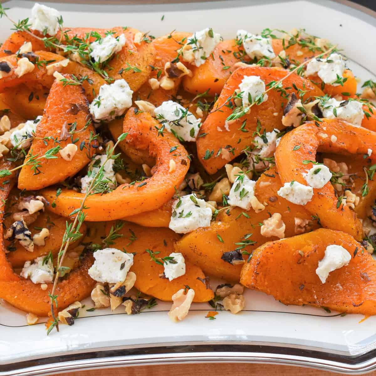 platter of roasted squash
