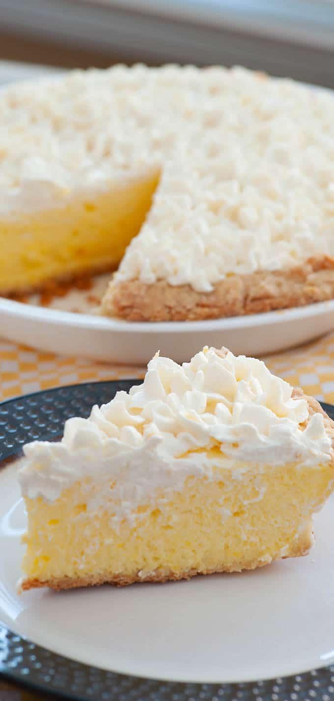 Lemon chiffon pie.