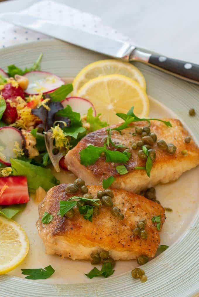 Mahi mahi fish piccata.