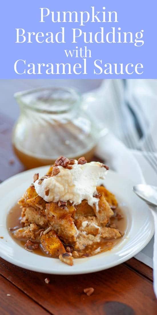 pumpkin bread pudding collage