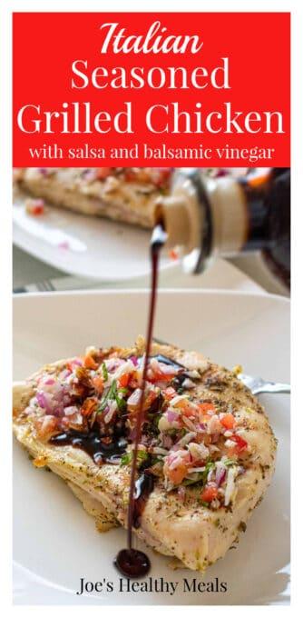 Grilled chicken Pinterest collage.